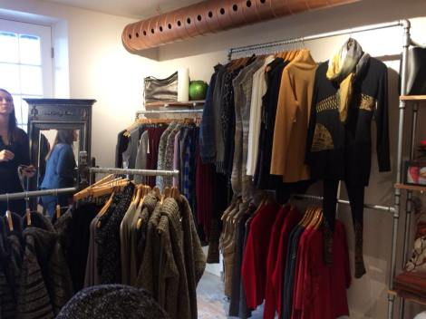 Designer outerwear, jackets, coats, and sweaters.