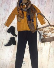 Cozy knits and matching accessories.